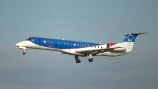 preview picture of video 'BMI Regional Embraer ERJ-145EP G-RJXG arrival at Munich München Airport'
