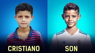 Famous Footballers And Their Children At Almost The Same Age