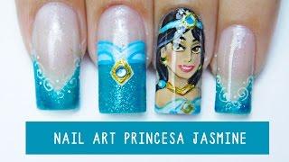 Unhas Decoradas Princesa Jasmine - Disney Princess Nail Art | Aline Makelyne