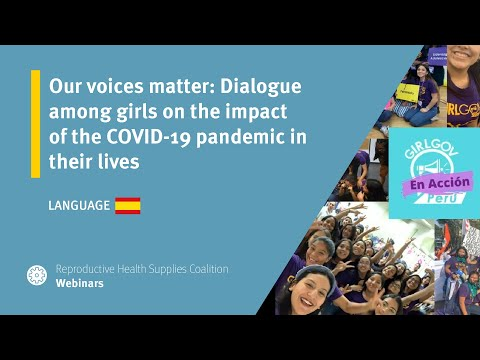 Our voices matter: Dialogue among girls on the impact of the COVID-19 pandemic in their lives