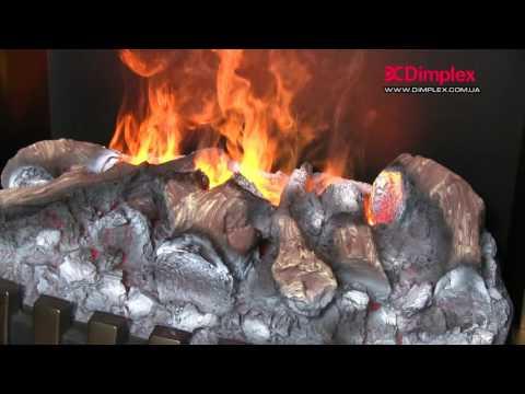 Электрокамин Dimplex Opti-myst Danville Antic Brass wf Video #1