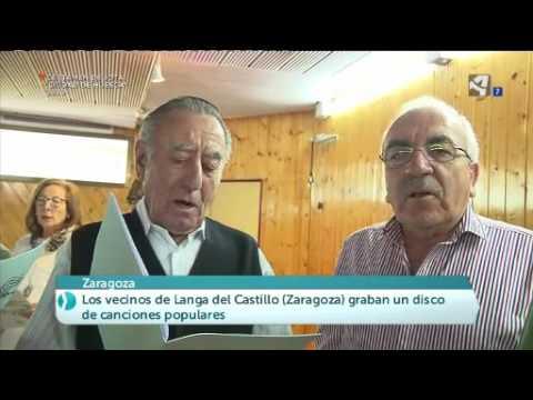 Los vecinos de Langa del Castillo graban un disco con las canciones populares