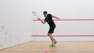 Squash tips: Learn the backhand trickle boast