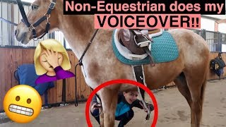 NON-EQUESTRIAN DOES MY VOICE OVER!! (Barn Routine!)