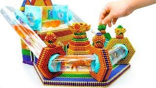 DIY - How To Build Lotus Flower Aquarium With Magnetic Balls (Satisfying) - Magnet Balls