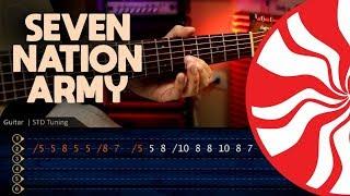 SEVEN NATION ARMY - The White Stripes Guitar TABS | Cover Guitara Christianvib