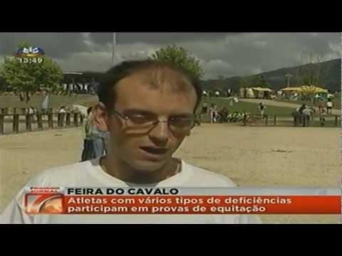 Reportagem da 'SIC' sobre as Olimpíadas de Equitação Adaptada inserida, pela primeira vez, na Fei...