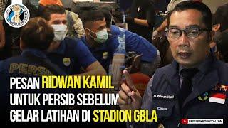 Ridwan Kamil Ingatkan Persib Sebelum Gelar Latihan di Stadion GBLA