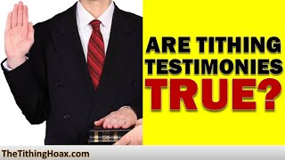Tithing Testimonies – What Preachers Don't Tell You