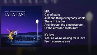 La La Land   City Of Stars DUET   Lyrics