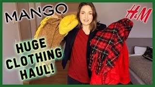 CLOTHING HAUL & Try On! Coats, Sweaters & Jeans | H&M Mango