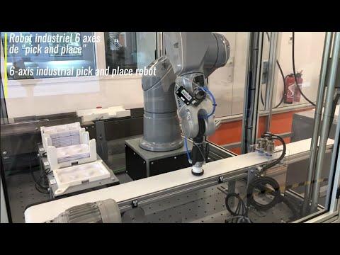 Intégrations robotiques en pick and place : Robot industriel 6 axes de Pick and Place