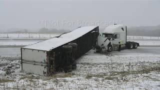 Rochester, Minnesota - Accidents/Spinouts In The Snow - April 12th, 2020