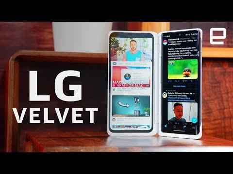 External Review Video QZR3sFNzJhk for LG VELVET Smartphone with LG Dual Screen