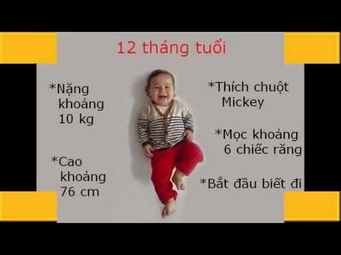 Chăm sóc trẻ từ 1 đến 12 tháng tuổi