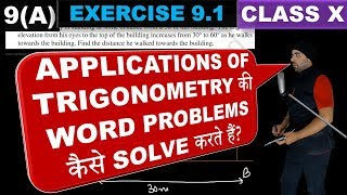 Exercise 9.1 Chapter 9 Applications of Trigonometry Class 10 Maths
