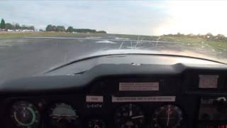 Elstree Landing - Cessna 152 G-ENTW Flight, HD Video (Binaural 3D sound, use headphones)