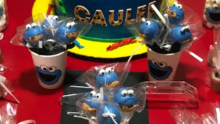 Cookie Monster Treats | Happy 1st Birthday Caulee | Shereka's World