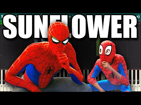 Sunflower Piano Tutorial - Post Malone and Swae Lee (Spider-Man: Into the Spider-Verse)