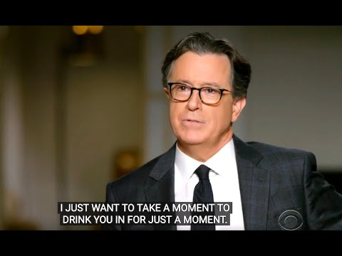 Stephen Colbert Very Awkwardly Fawns Over Obama To His Face
