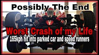 Arrma Typhon 165kph Crash into car and onlookers Ep22