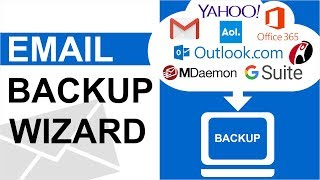 Email Backup Wizard - Download Cloud Emails, Web Server Mail or Email Services Backup to Local Drive