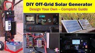 High-Capacity Off-Grid Solar Generator (rev 4) -- Wiring Diagram, Parts List, Design Worksheet