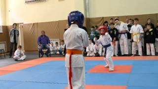 соревнование каратэ.Одесса 2014.05.17. мой 1 бой.выиграл.