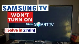 How to Fix Samsung Smart TV Won't Turn On || Quick Solve in 2 minutes