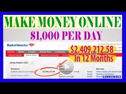 How To Make Money Online [Fast $ Easy Way, From Your Home 2017 Proof $1,000 Per Day]