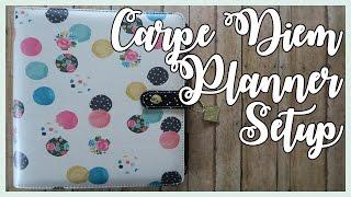 Floral Dot Carpe Diem Planner Setup