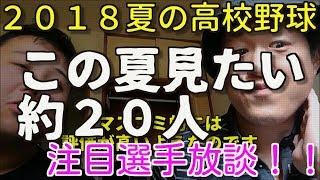 2018夏の高校野球・注目選手放談この夏見たい約20人!!