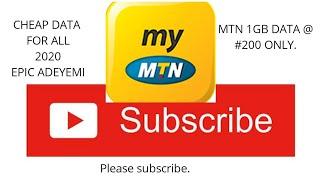 How to get MTN 1GB DATA @ #200  NAIRA  ONLY.#MTN #DATA  #CHEAT #FREE  #mtnfreedata