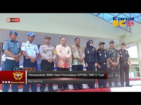 Pemusnahan BMN Hasil Penindakan KPPBC TMP C Tual