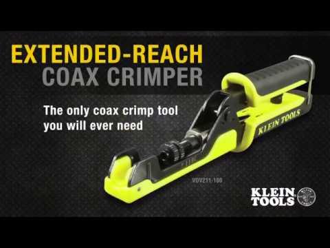 Extended Reach Multi Connector Compression Crimper