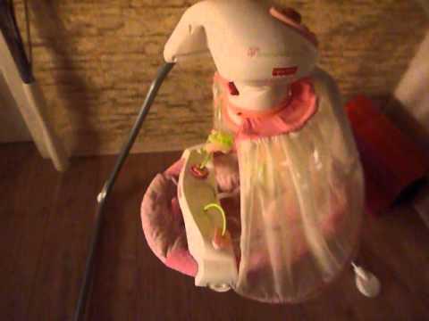 Babyschaukel Butterfly Garden Papasan von Fisher Price - zu verkaufen