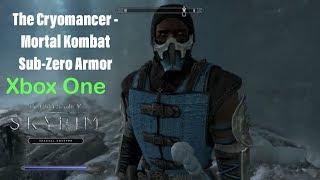 Skyrim SE Xbox One Mods|The Cryomancer - Mortal Kombat Sub-Zero Armor