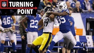 JuJu Smith-Schuster's Pair of Big Catches Sparks Comeback Against Colts (Week 10) | NFL Films
