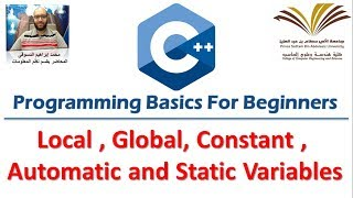 Download Youtube: 9- Programming with C++ , Local , Global  variables , Const , Automatic and Static  برمجة