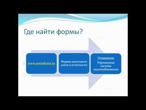 УСН. Формы учета и отчетности
