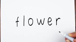 How To Draw Flowers Using The Word Flower