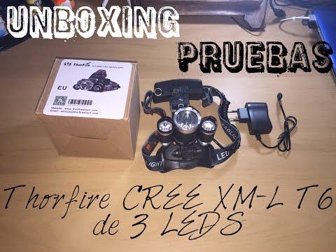 Linterna Frontal de Cabeza ThorFire CREE XM L T6 3 LED
