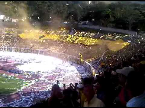 """Salida Avalancha Sur (D. Tachira 2 R. Esppor 0) 05/12/10"" Barra: Avalancha Sur • Club: Deportivo Táchira"