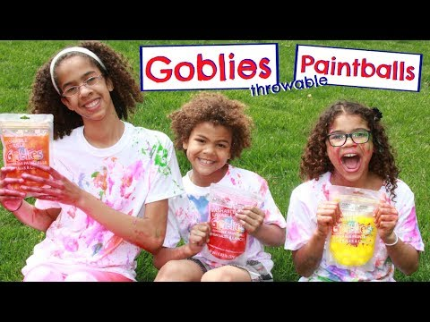 WE TRIED OUT GOBLIES THROWABLE PAINTBALLS