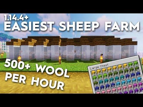 , title : 'Minecraft Sheep Farm - Easiest - 500 Wool Per Hour! 1.16/1.15