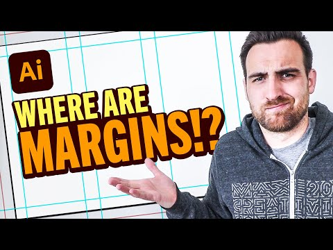How to CREATE MARGINS & COLUMNS in Illustrator (Tutorial)