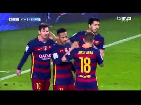 FC Barcelona vs Celta Vigo 6 -1   All Goals and Highlights 2/14/16   Ray Hudson Commentary