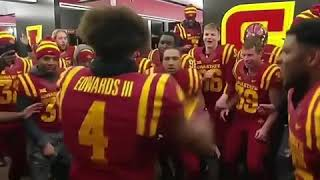 Iowa State celebrating in locker room after upset over TCU! Iowa State locker room celebration dance