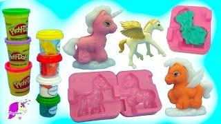 Make Your Own Dream PlayDoh + Glitter Unicorn, Pegasus Ponies Maker Playset - Video