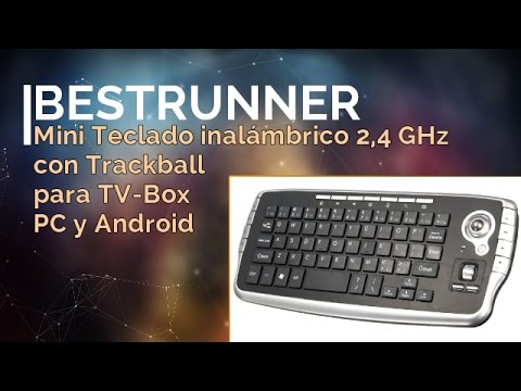 BESTRUNNER Mini Teclado Inalámbrico 2,4 GHz con Trackball | UnBoxing + Review